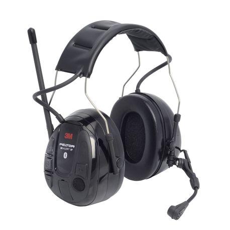 3M PELTOR WS Alert XP kuuleva Bluetooth kuulonsuojain päälakisangalla